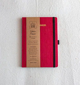 A5 Scarlet Red Bookcloth Undated Planner