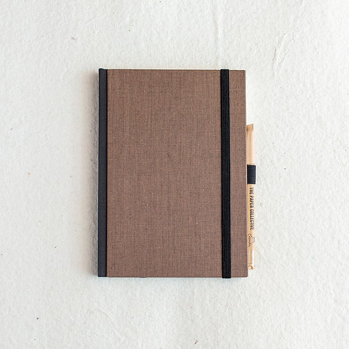 Cotton Bookcloth Journal - Oak