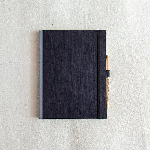 Cotton Bookcloth Journal - Black Velvet