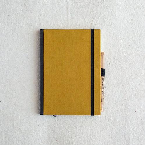 Cotton Bookcloth Journal - Mustard