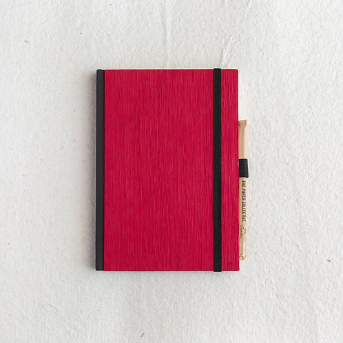 Cotton Bookcloth Journal - Scarlet Red