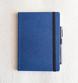 A5 Textured Blue HB PU_Dot Grid-1.jpg