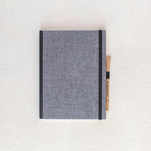 Cotton Bookcloth Journal - Ash