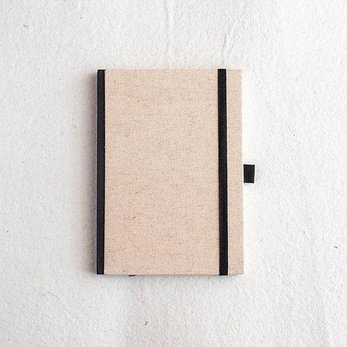 Cotton Bookcloth Journal - Beige Canvas