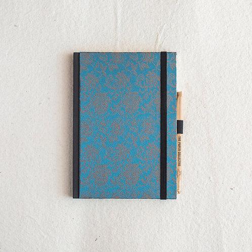 Cotton Bookcloth Journal - Jade Vine