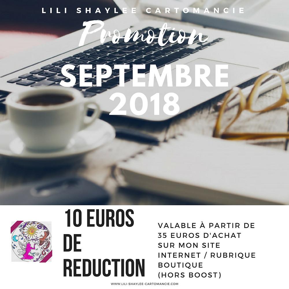 promotion septembre 2018 - lili shaylee cartomancie