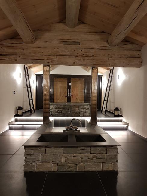 Upstairs spa area