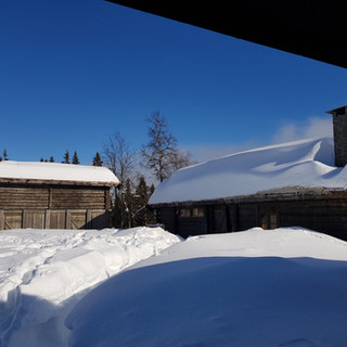 Luxurious lodges in the snow