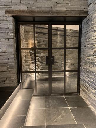 Door between main lodge and southern lodge
