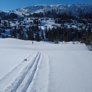 Adventurous skiing tracks of Kvitfjell