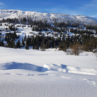 View of Kvitfjell from the exclusive lodges