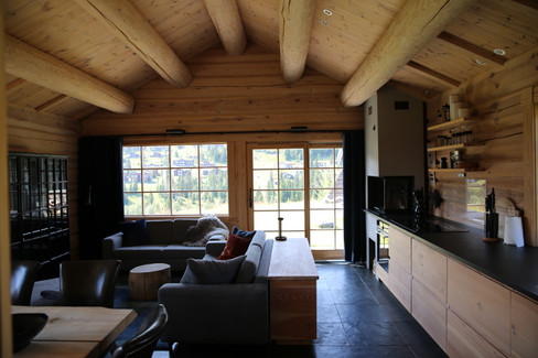 Kitchen, dining and living room combined