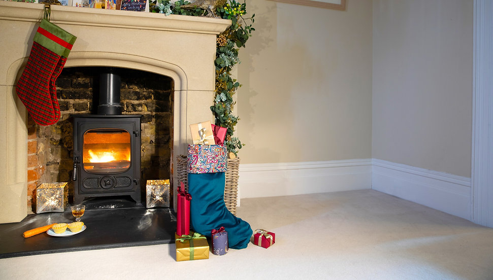 Luxury Christmas Stocking by the fire
