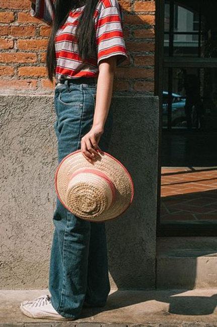 Bamboo hat w/decorationp