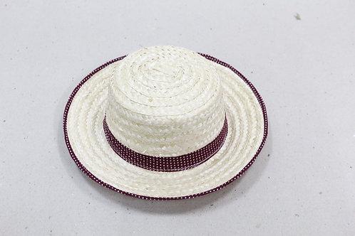 Bamboo hat w/decoration