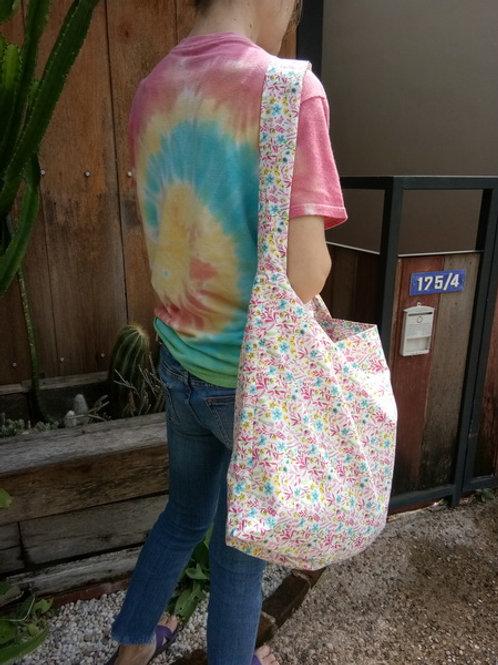 Bag flower pattern