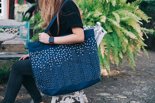 Embrodiry bag , indigo dyed 1 side