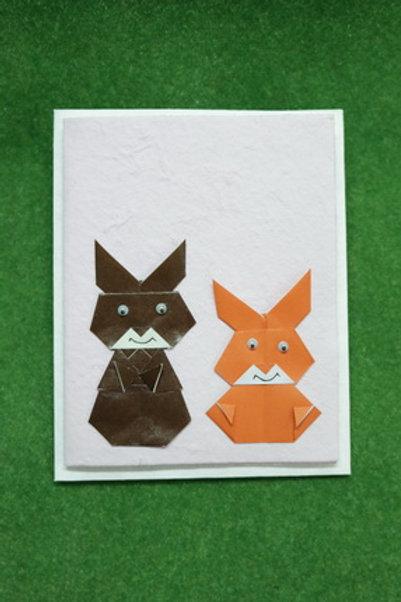 Greeting Card w/origami decoration