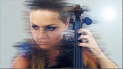 Futuristic cellist