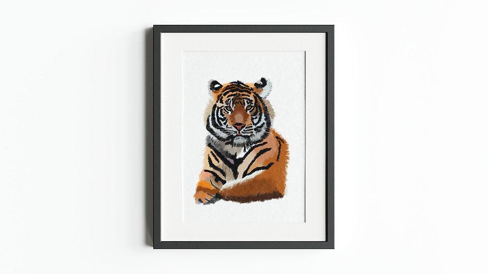 Eye of the tiger Print - Digital Art Print