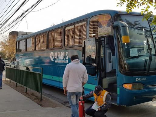 Buses Alfabus, siempre cumpliendo con los estándares de seguridad.