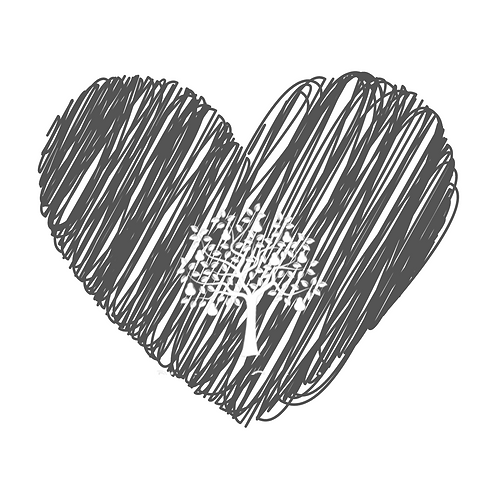 Raspberry & chocolate macaron heart