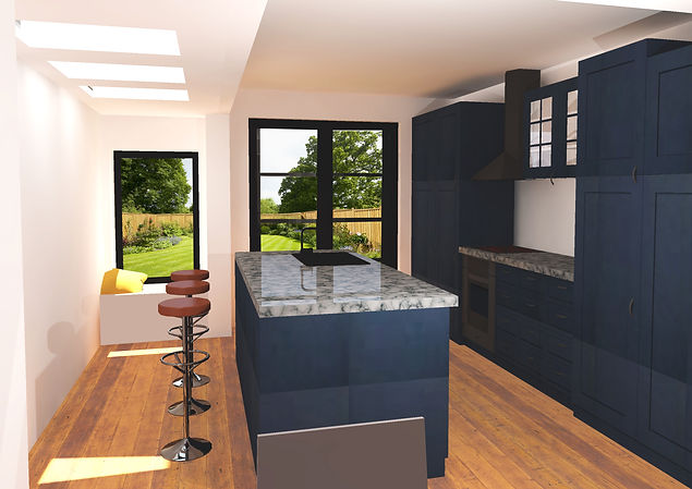 Single storey extension with new kitchen