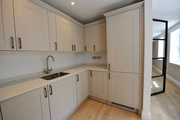 Shaker kitchen in listed home