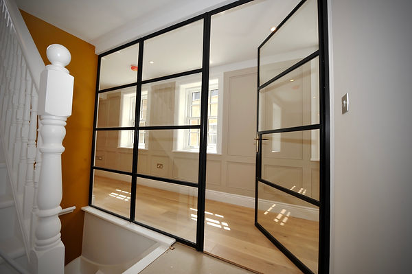 Fire rated crittall interior glass screen