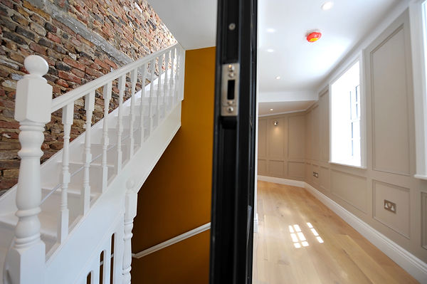 Feature walls in listed building