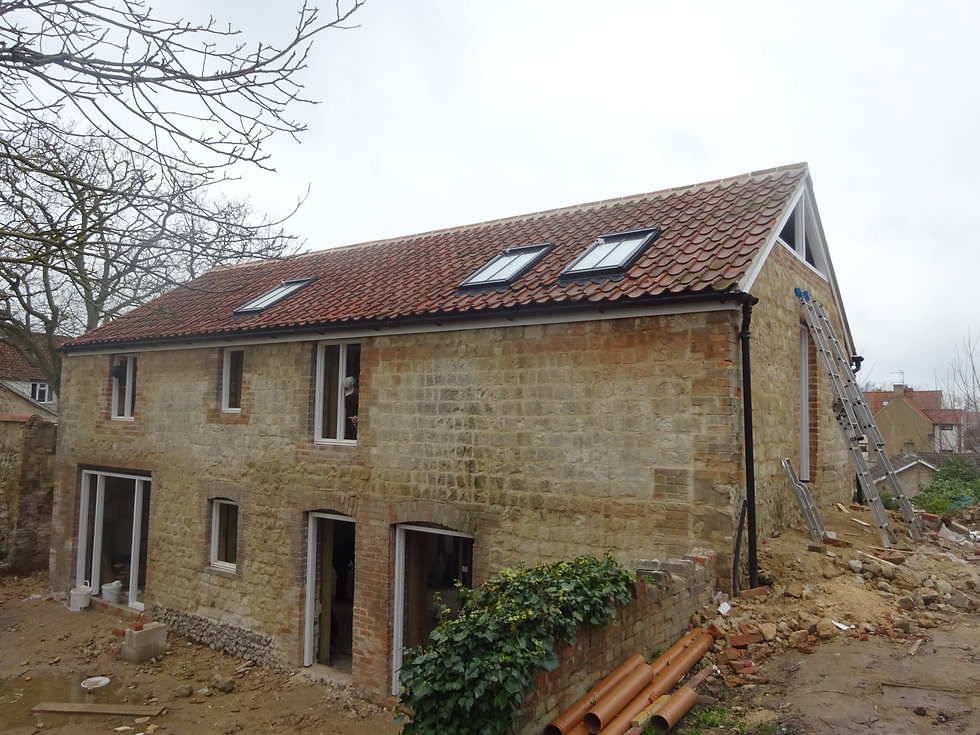 Barn conversion to grade II listed building