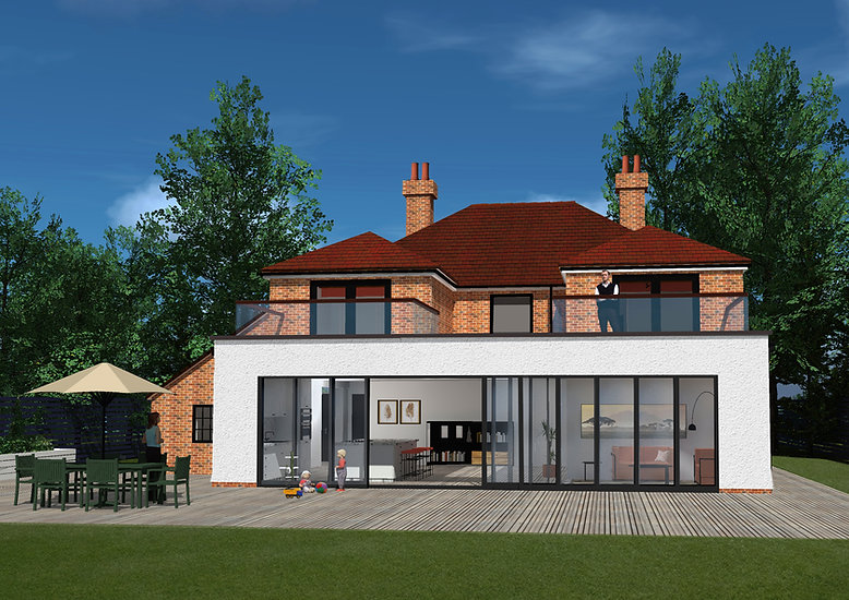 Large modern contemporary extension