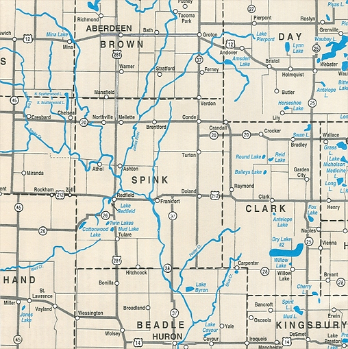 Spink County Map.png