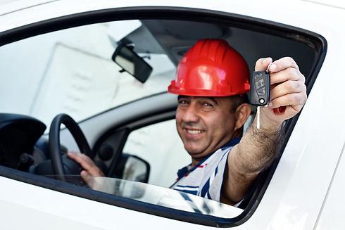 Middle Eastern Driver In Van.jpg