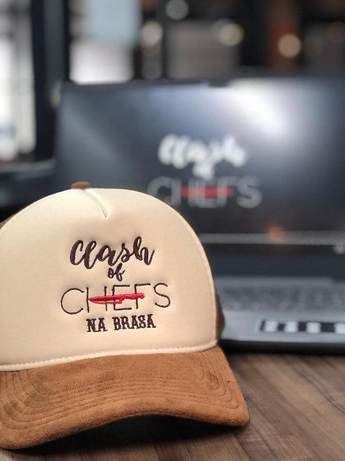 Boné Clash of Chefs na Brasa - Marrom