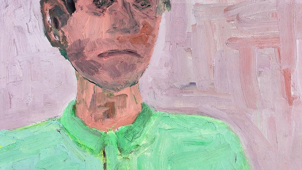Portrait en technique mixte
