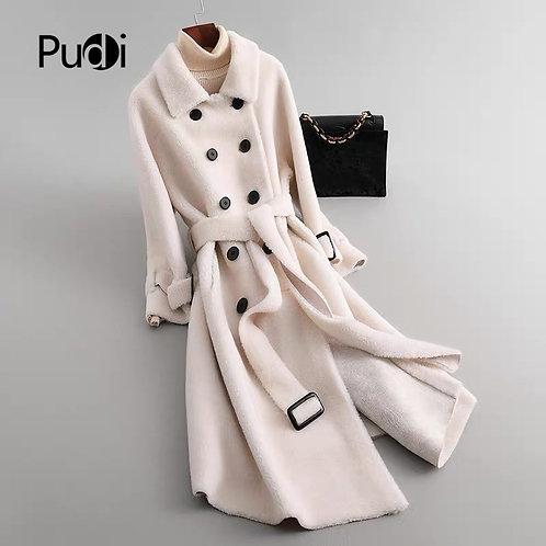 Fall Winter Warm Women Wool Fur Coat Jacket