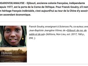 Tribune dans Le Figaro:  A Djibouti, l'influence française doit faire face à l'offensive de
