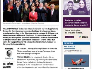 Grand entretien avec Franck Gouéry dans La Tribune
