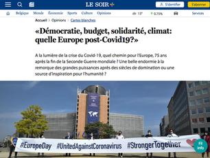Tribune «Démocratie, budget, solidarité, climat: quelle Europe post-Covid19?» publiée par LE SOIR