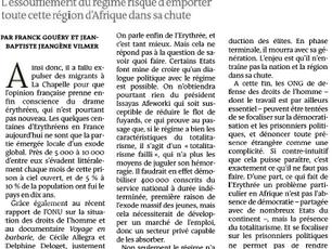 """Tribune dans Le Monde : """"Comment faire face au totalitarisme érythréen"""""""