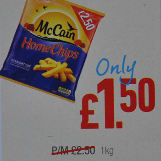 McCains Homechips just £1.50