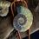 Thumbnail: Medium Ammonite Fossil Art Deco Copper Wire Wrap