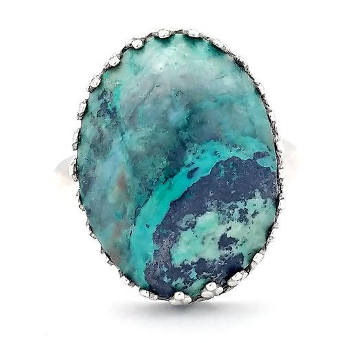 Chrysocolla 18x13 MM Ring