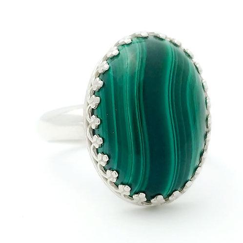 Malachite 18x13 MM Ring