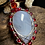 Thumbnail: White Plume Agate With Beading Silver Wire Wrap