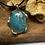 Thumbnail: Green Moss Agate Chrysoprase 25x18 MM Swirl Pendant