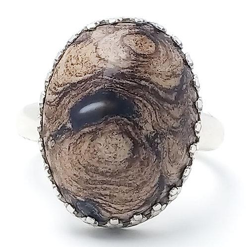 Stromatolite 18x13 MM Ring