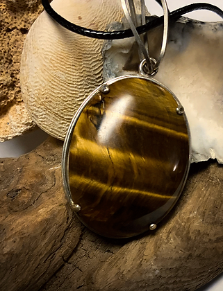 Tiger Eye 40x30 MM Simple Pendant