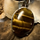 Thumbnail: Tiger Eye 40x30 MM Simple Pendant